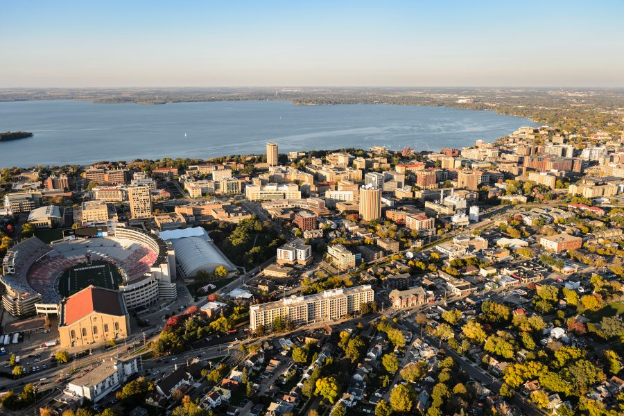 The central and eastern portions of the University of Wisconsin-Madison