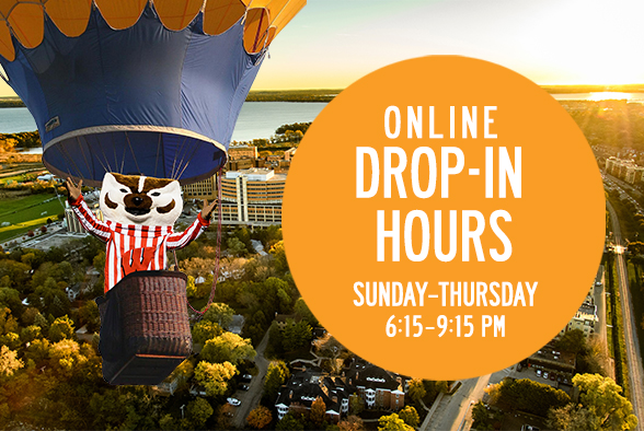Online Drop-In Hours Sunday-Thursday 6:15-9:15 PM CST